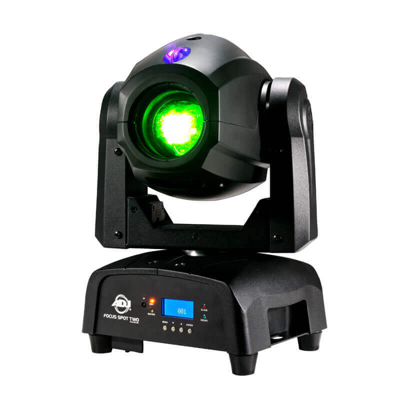 Adj Focus Spot Two Cabeza Móvil Con 3 W Uv-led Adicional