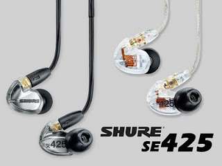 Shure Se425 Audífonos In-ear Sound Isolating Con 2 Microbocinas, Disponibles En Color Negro Y Plata