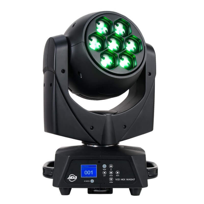 Adj Vizi Hex Wash7 Cabeza Móvil Tipo Wash, 7 Led Hex De 15 W