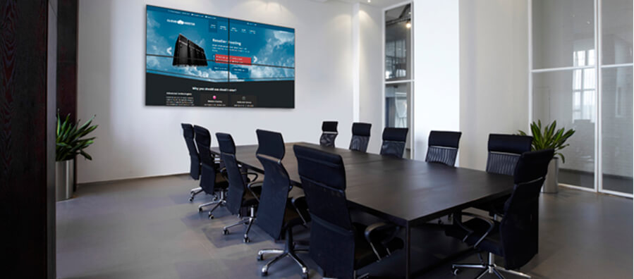 Video walls para sala de juntas